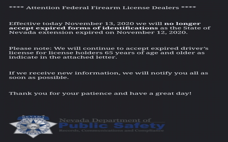 Nevada Firearm Dealers No Longer Allowed to...